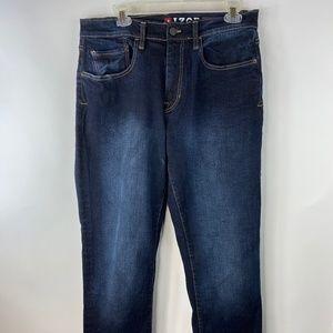 Mens IZOD Dark Wash 34X32 Relax Fit Blue Jeans